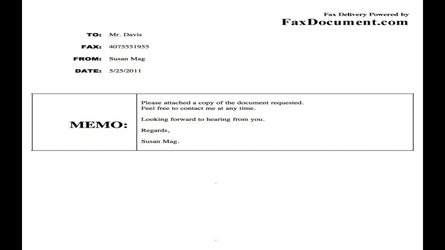 FaxDocument for Mac - review, screenshots