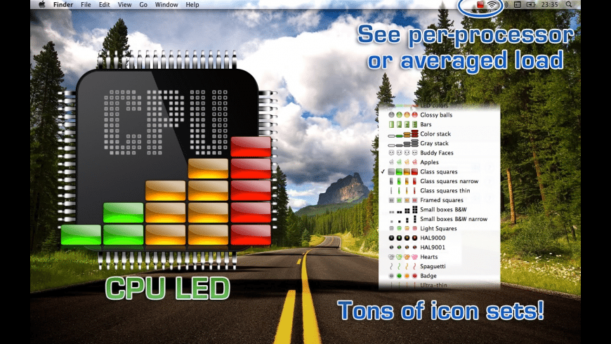 CPU LED for Mac - review, screenshots
