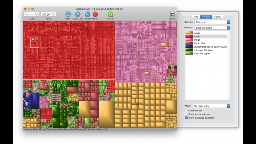 GrandPerspective for Mac - review, screenshots