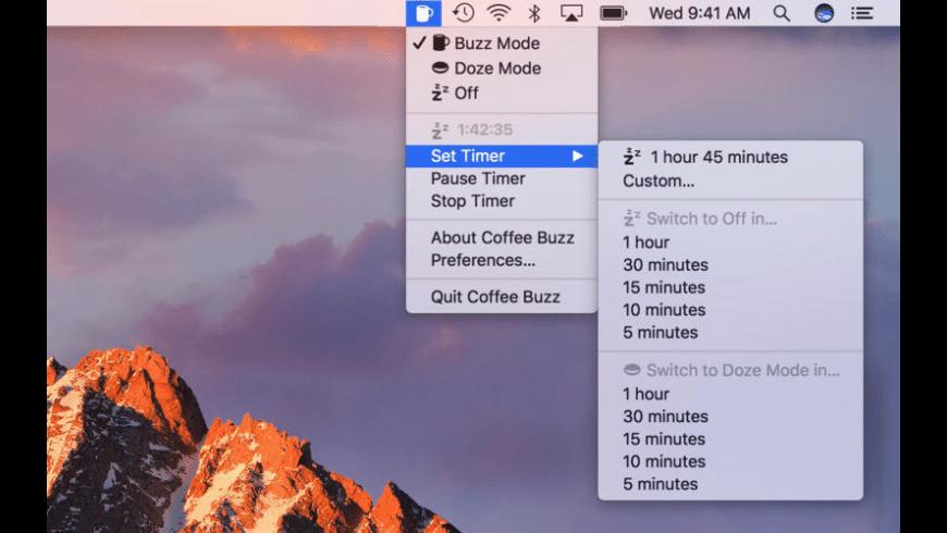 Coffee Buzz for Mac - review, screenshots