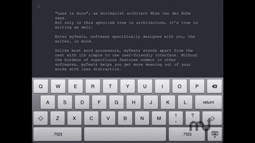 myTexts for Mac - review, screenshots
