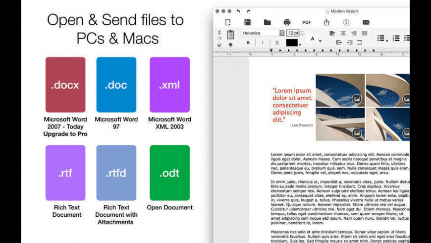 Document Writer for Mac - review, screenshots