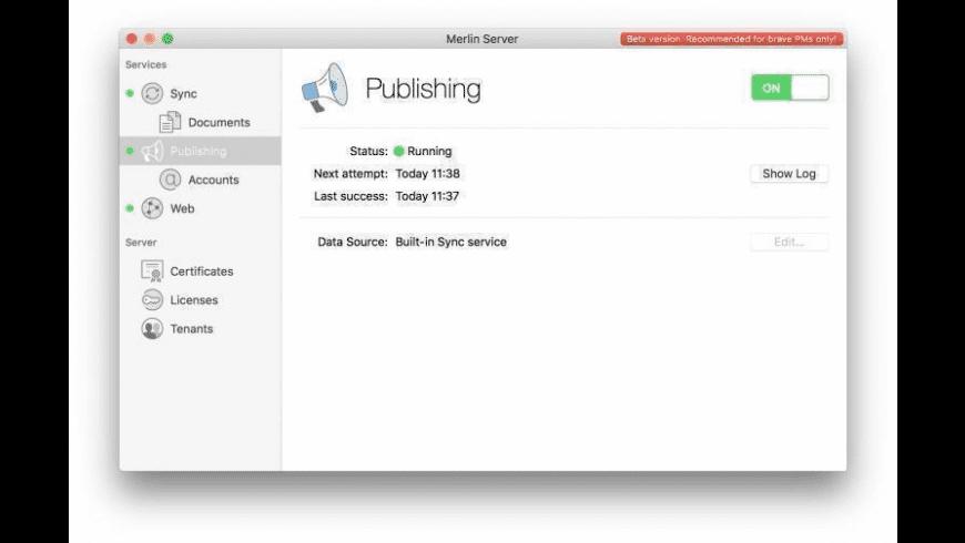 Merlin Server for Mac - review, screenshots