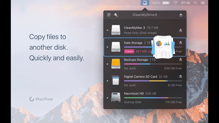 CleanMyDrive for Mac - review, screenshots