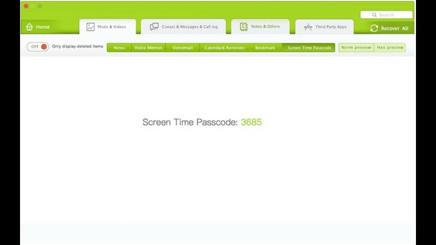 Fone Rescue for Mac - review, screenshots