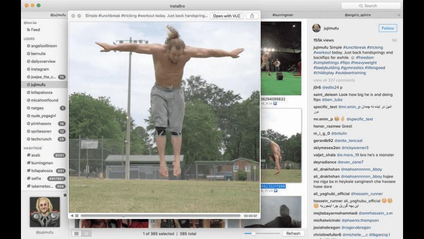InstaBro for Mac - review, screenshots