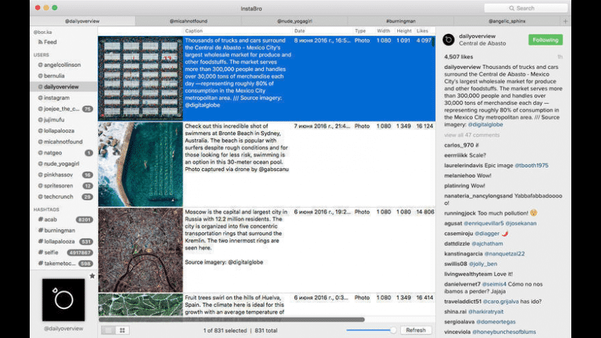 InstaBro for Mac - review, screenshots