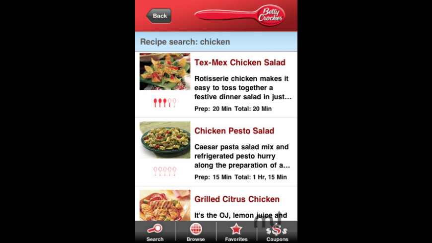 The Betty Crocker Mobile Cookbook for Mac - review, screenshots