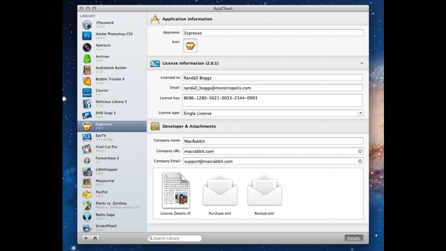 AppChest for Mac - review, screenshots