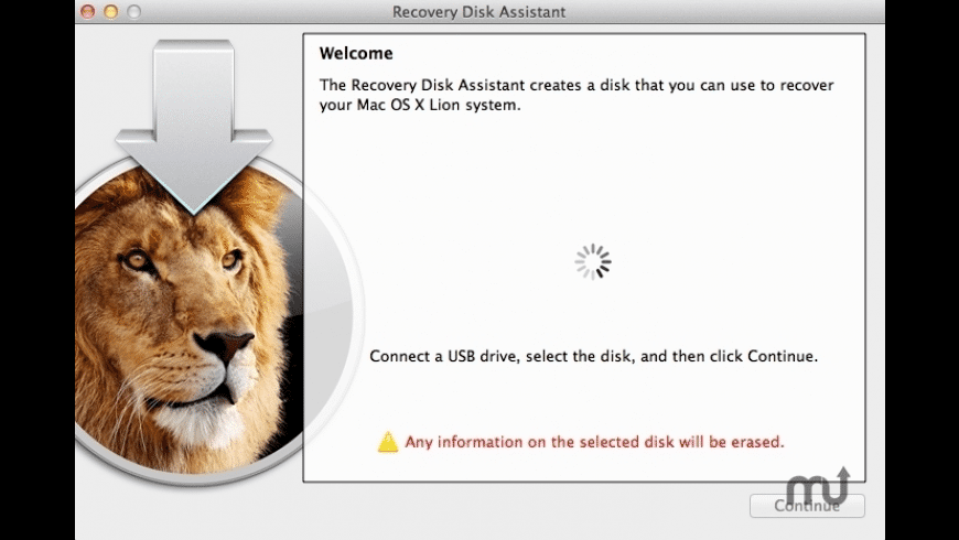 Lion Recovery Disk Assistant for Mac - review, screenshots