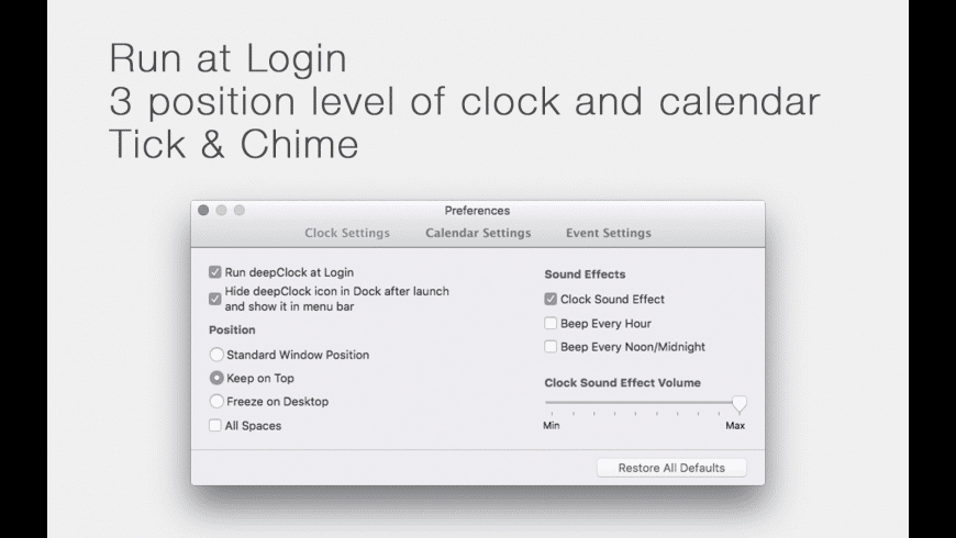 deepClock for Mac - review, screenshots