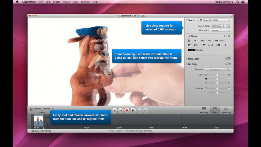 iStopMotion for Mac - review, screenshots