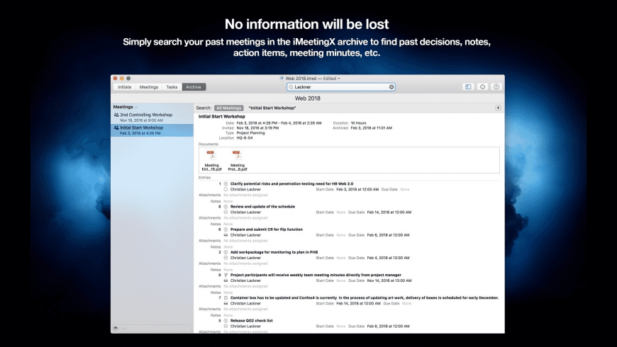 iMeetingX for Mac - review, screenshots