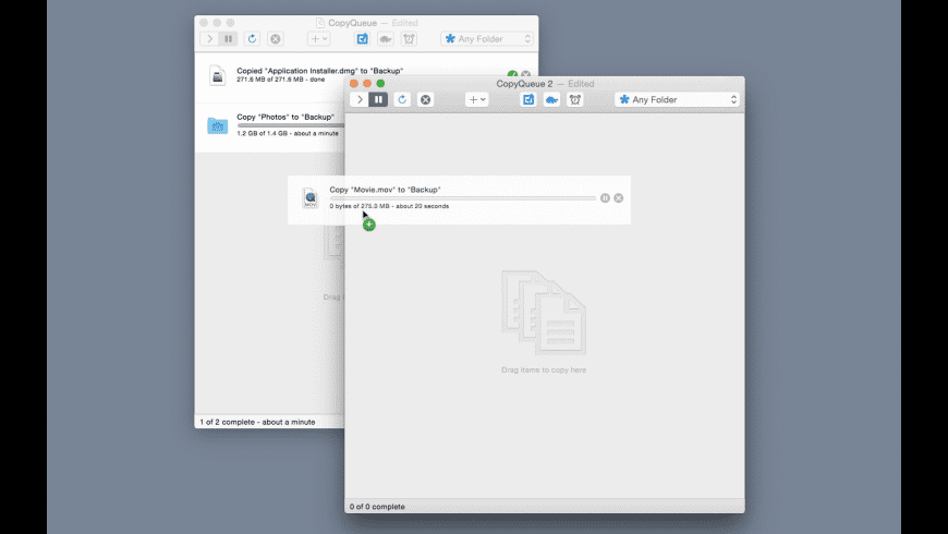 CopyQueue for Mac - review, screenshots