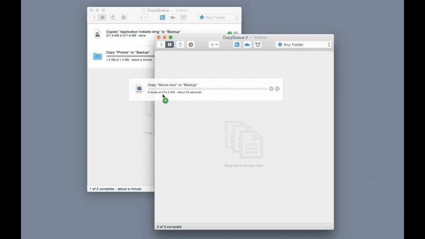 CopyQueue for Mac - review, screenshots
