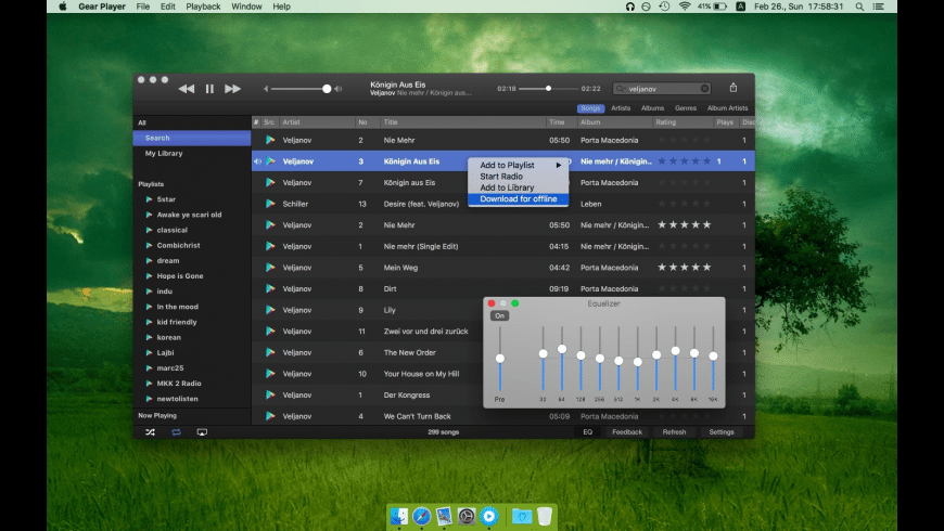 Gear Player for Mac - review, screenshots