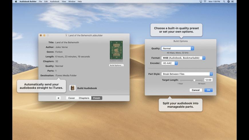 Audiobook Builder Mac 破解版 CD转iOS设备有声读物工具-麦氪派