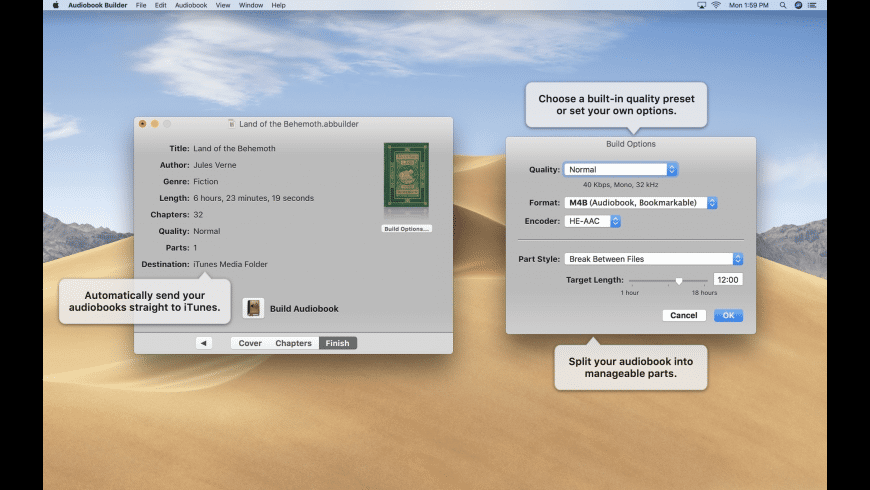 Audiobook Builder for Mac - review, screenshots