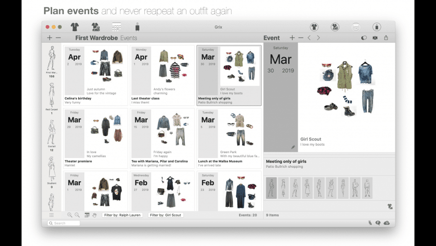 Dress Assistant for Mac - review, screenshots