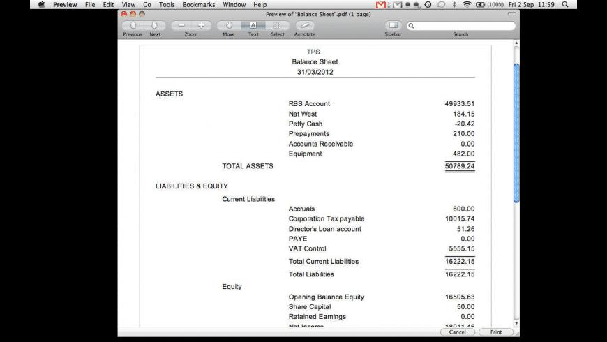 Abacus Accounts Lite for Mac - review, screenshots
