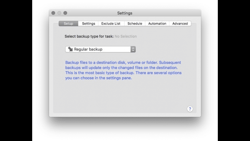 BackupList+ for Mac - review, screenshots