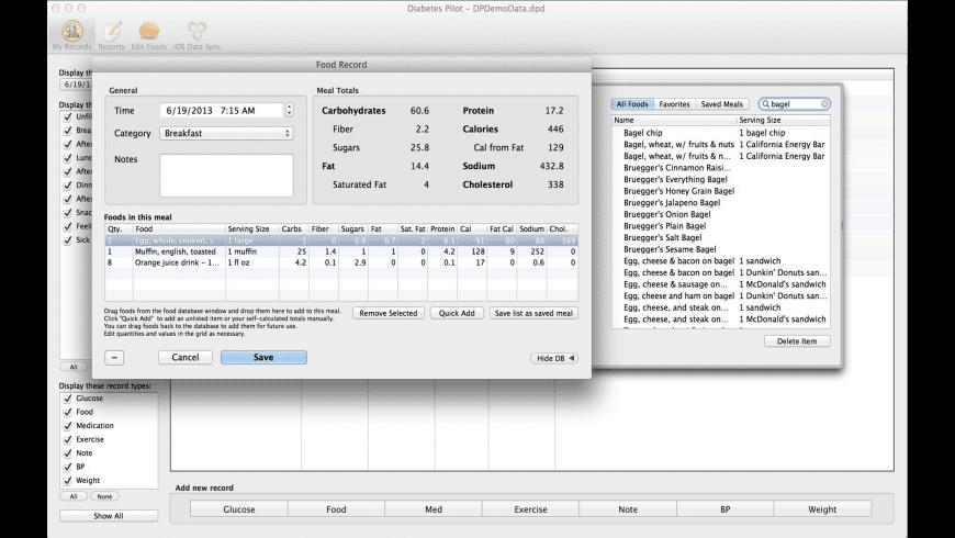 Diabetes Pilot for Mac - review, screenshots
