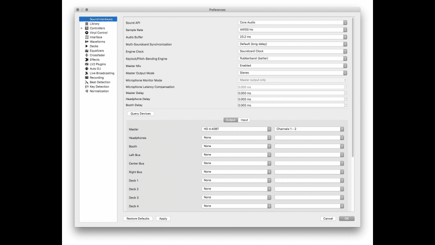 Mixxx for Mac - review, screenshots