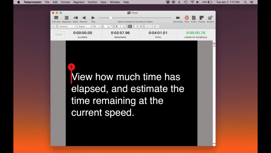 Teleprompter for Mac - review, screenshots