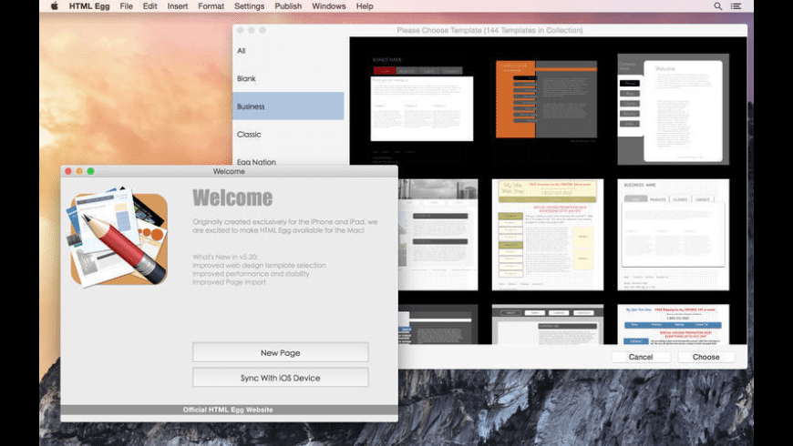 HTML Egg for Mac - review, screenshots