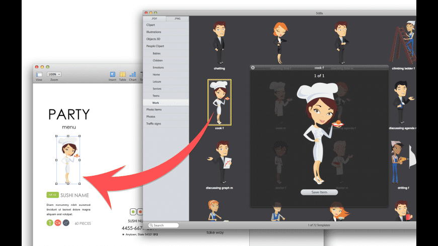 Expert Clipart for Mac - review, screenshots