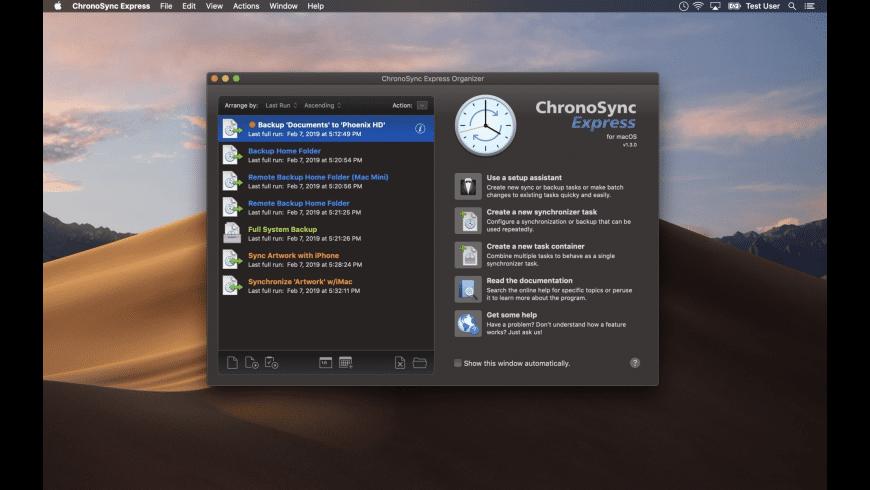 ChronoSync Express for Mac - review, screenshots