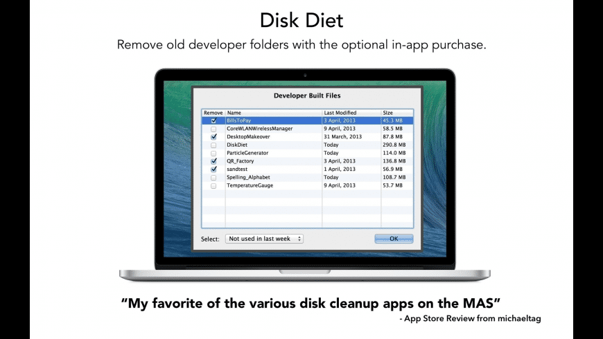 Disk Diet for Mac - review, screenshots