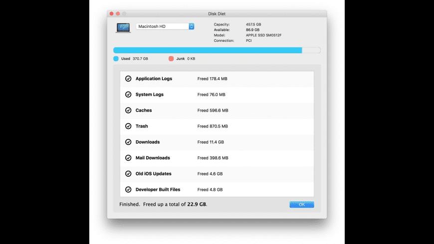 Disk Diet for Mac - review, screenshots
