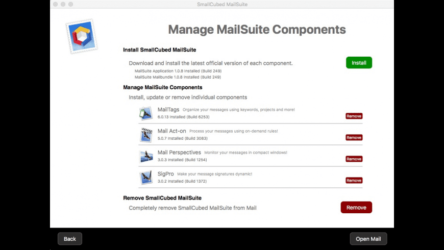 SmallCubed MailSuite for Mac - review, screenshots