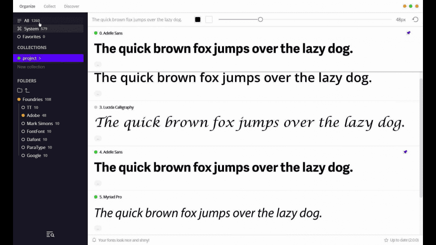 FontBase for Mac - review, screenshots