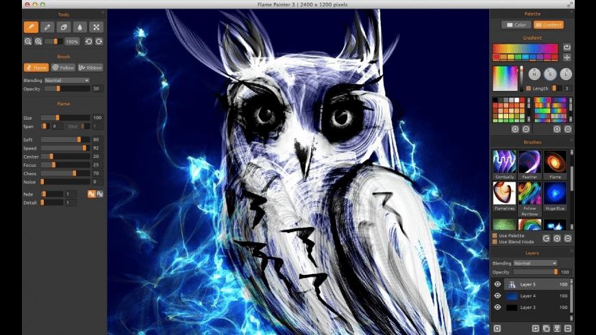 Flame Painter for Mac - review, screenshots