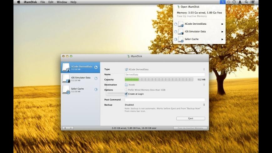 iRamDisk for Mac - review, screenshots
