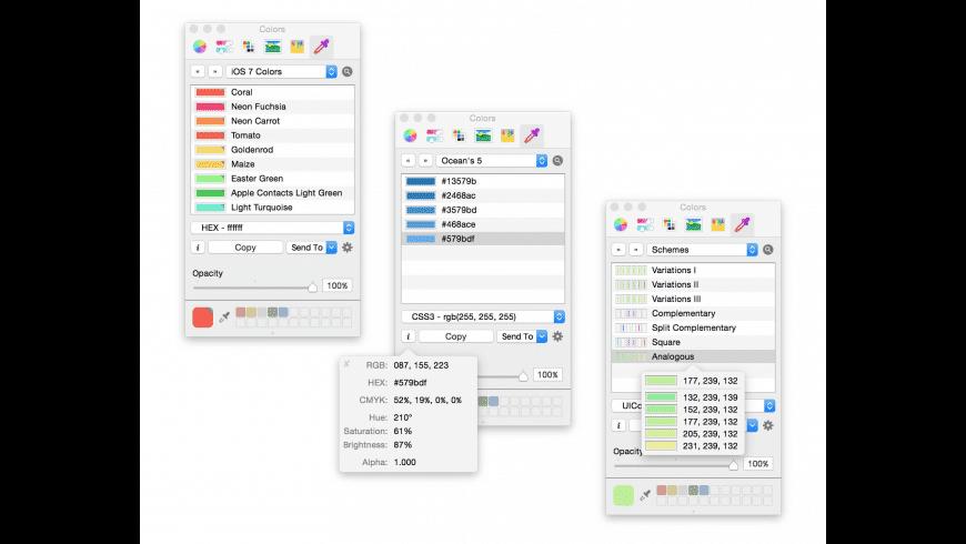 Colors PRO for Mac - review, screenshots