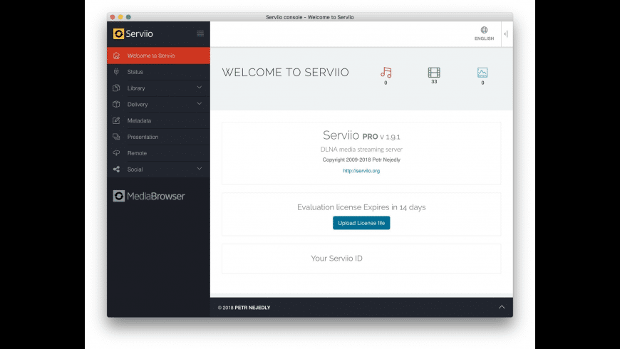 Serviio for Mac - review, screenshots