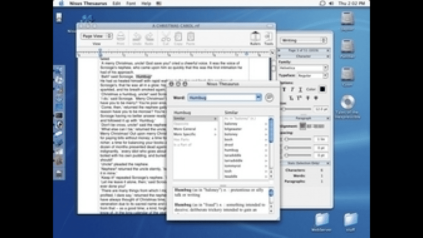 Nisus Thesaurus for Mac - review, screenshots