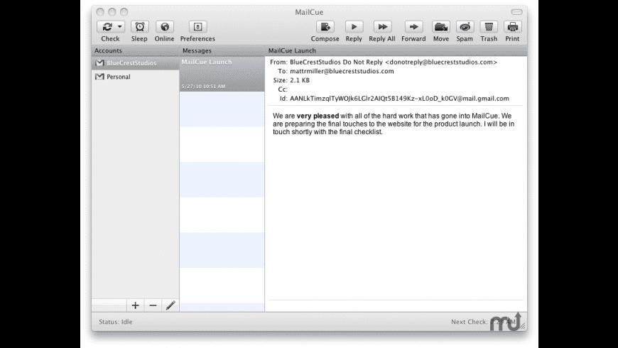 MailCue for Mac - review, screenshots