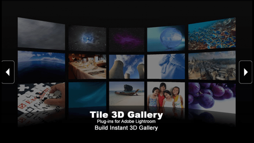 Tile 3D Gallery Plugins for Mac - review, screenshots
