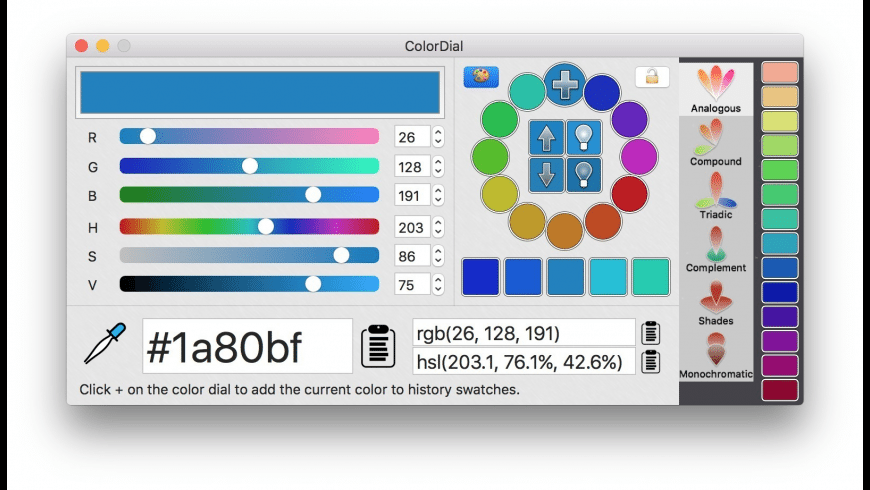 ColorDial for Mac - review, screenshots