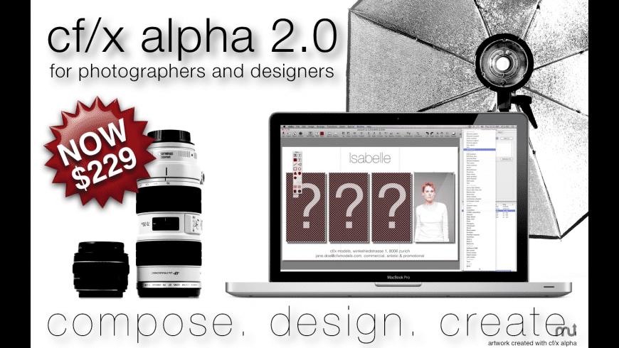 alpha for Mac - review, screenshots