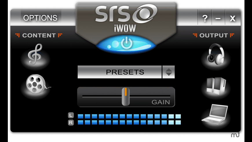 SRS iWOW Premium (Upgrade) for Mac - review, screenshots