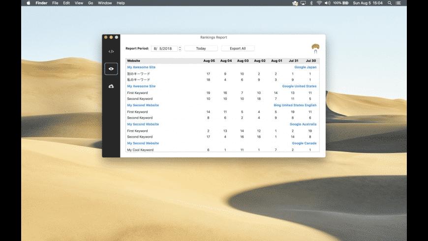 RankGuru SEO for Mac - review, screenshots