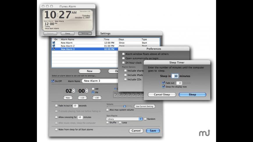 iTunes Alarm for Mac - review, screenshots