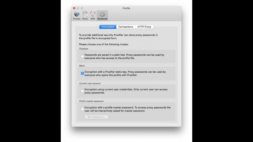 Proxifier for Mac - review, screenshots