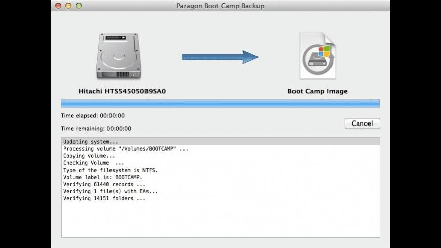 Boot Camp Backup for Mac - review, screenshots