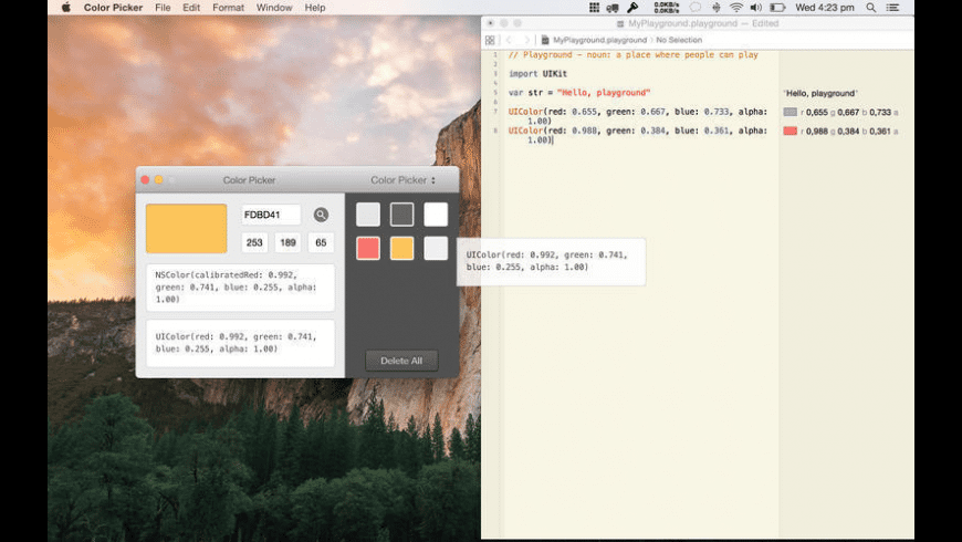 Color Picker for Mac - review, screenshots